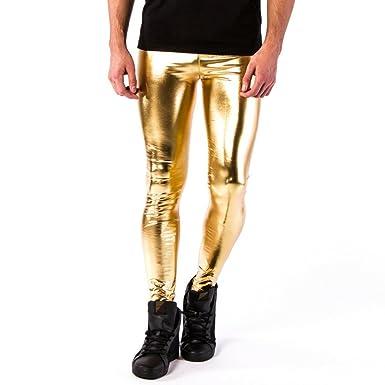 c2d33326c9463f Kapow Meggings Men's Metallic Range Leggings - Holographic, Wet Look &  Glitter (24 Carat. Roll over image to zoom in
