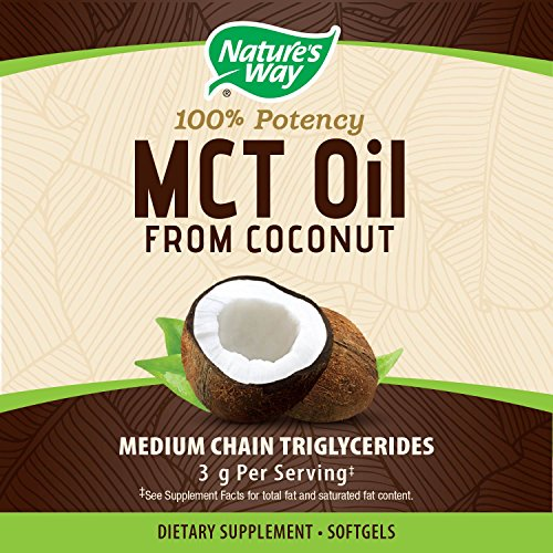 Nature's Way MCT Softgels Potency, 1000mg of MCTs softgel, Gluten-free, or Filler Flavorless, Odorless - softgels