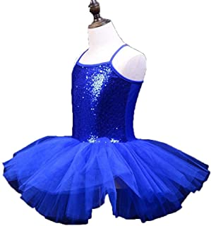 Bambine Paillettes Luccicanti Camisole Balletto Tutu Dress Senza Maniche Bordato Ballerini Vestito da Ballo Vestito da Ginnastica Ginnico Latino Ballroom Dance Costumi Occasioni Speciali Dancewear
