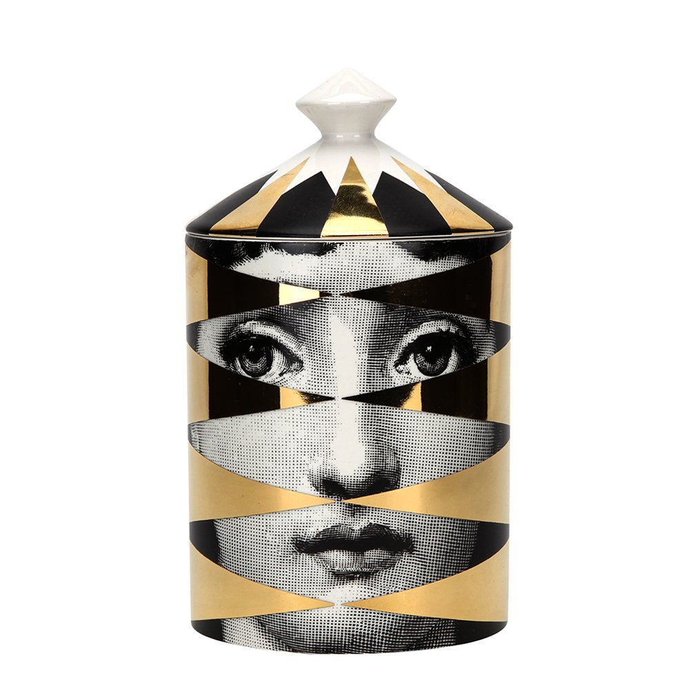 Fornasetti Losanghe (Gold) Candle 3-168 CAN300LO by Fornasetti