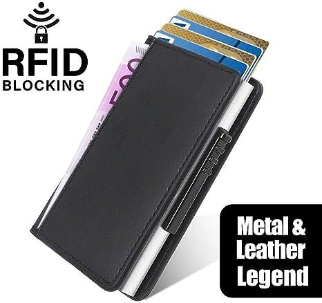 Nuevo bolsillo para tarjetas de crédito hecho de aluminio a mano ...