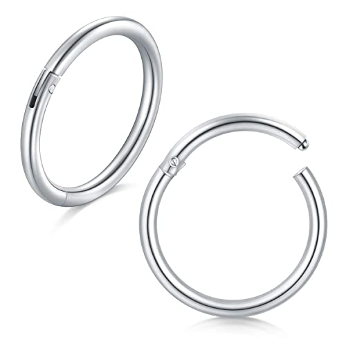 Incaton 18 Calibre 8 mm de Acero Inoxidable Septum Piercing ...