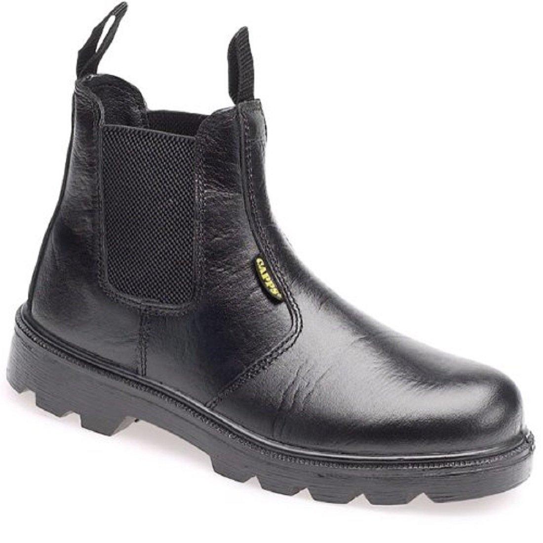 Blackrock Dealer Boots Steel Toe Cap Black Leather Chelsea Safety Work SF12B