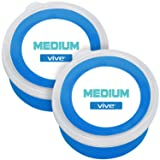 Vive Therapy Putty Medium (2-Pack) for Finger, Hand & Grip Strength Exercises - Extra Soft, Soft, Medium and Firm Resistance Kit for Occupational, Physical Therapy, Thinking and Stress