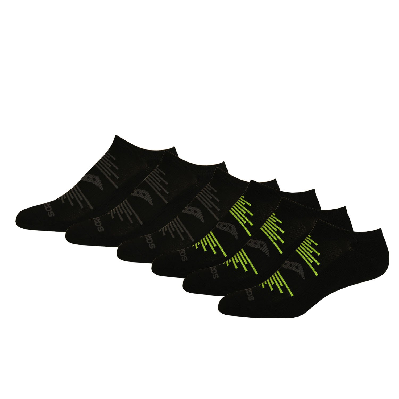 eefc097a Saucony Men's 6 Pack Performance Comfort Fit No-Show Socks, Black/Grey  Assorted, Size: 9.5-11.5