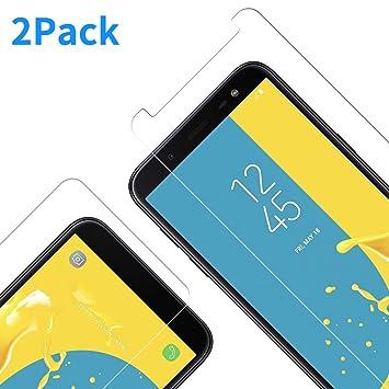 Vkaiy [2 Unidades] Protector De Pantalla Samsung Galaxy J6 2018, Ultra Transparente Vidrio