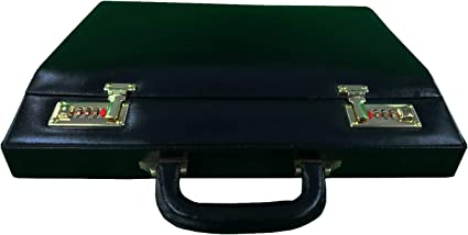 Genuine Leather Briefcase Executive Leather Attache Business Handbag For Men