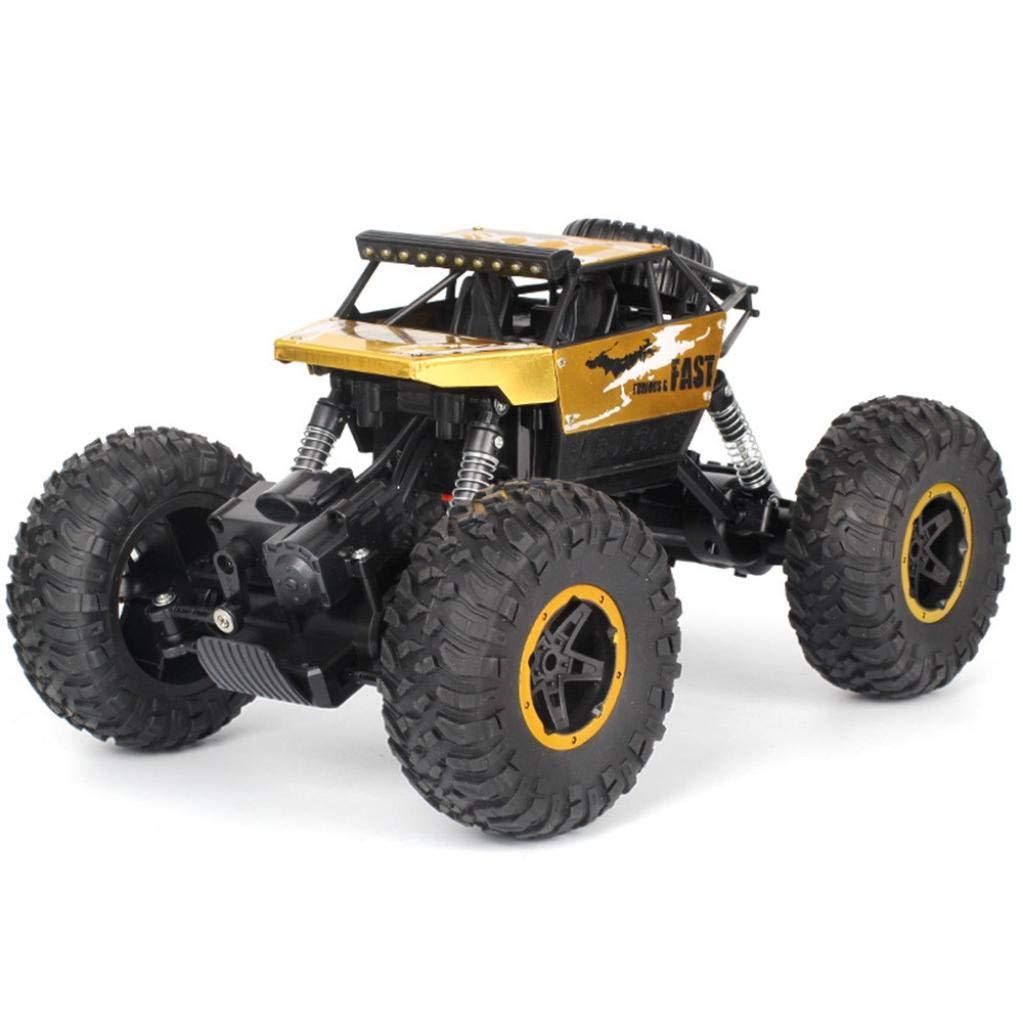 HighlifeS R/C Rock Crawler Radio Control Vehicle 1/18 2.4G 4WD 15KM/h (Gold)