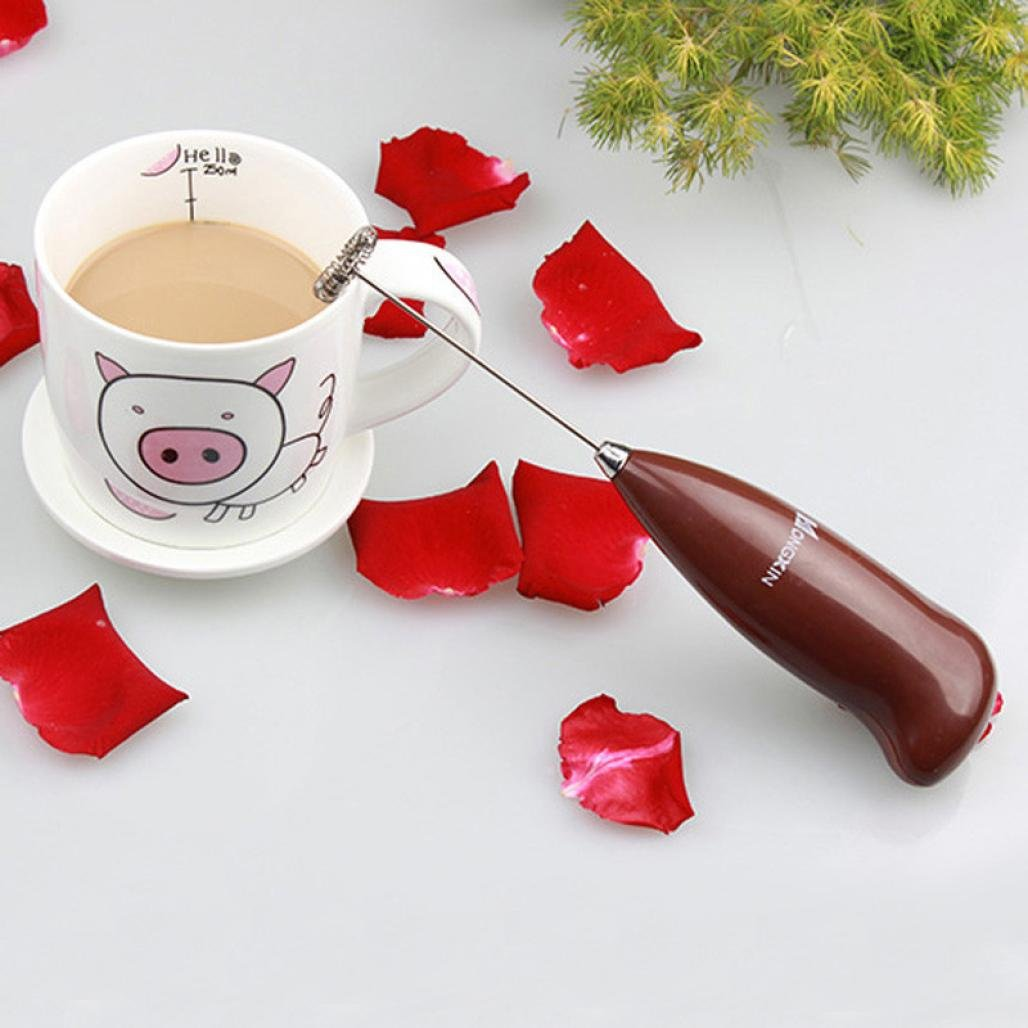 Iuhan Drinks Milk Frother Foamer Whisk Mixer Stirrer Egg Beater (Coffee) by Iuhan (Image #2)