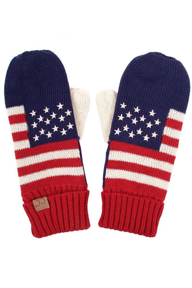 ScarvesMe CC Patriotism American Flag Adult Mitten Gloves (Red)