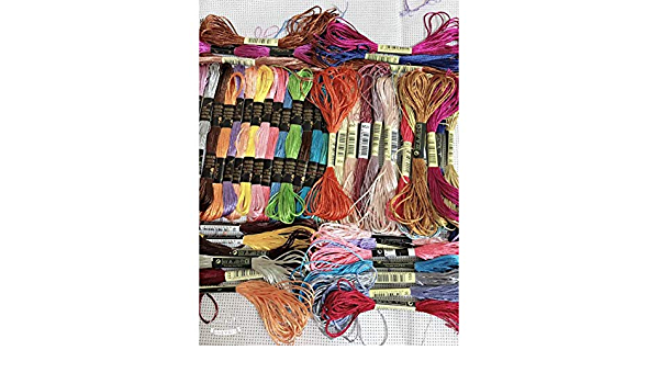 XDSDGY Embroidery Thread Silk Cotton 24Pcs Colors Dmc Similar Cotton Embroidery Thread Kits for Cross Stitch Mouline 6 Strands Floss 8M Sewing