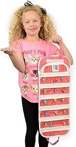 EASYVIEW Toy Storage Organizer Case Compatible CollEGGtibles Shopkins (Pink)