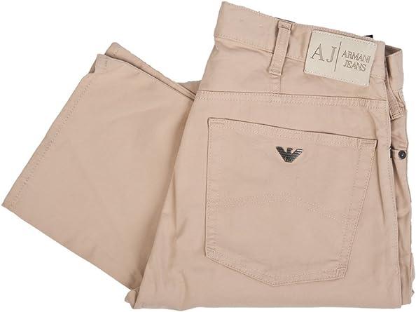 Armani Jeans Pantalon Gabardina Para Hombre Corte Recto Caqui Talla 30 Beige Marron 32w X 34l Amazon Es Ropa Y Accesorios