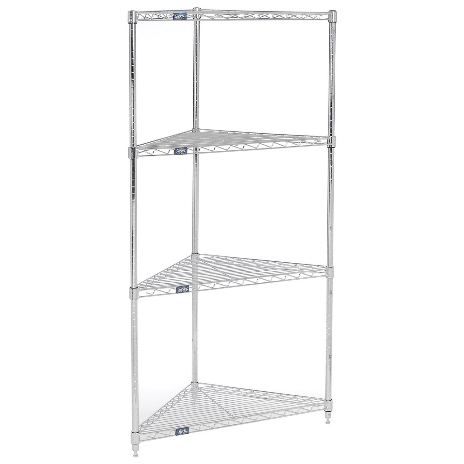 Corner Wire Shelving 24''W x 18''D x 74''H by Global Industrial