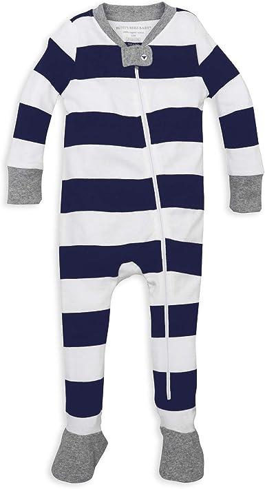 Zip-Front Non-Slip Footed Sleeper Pjs Burts Bees Baby Baby Boys Unisex Pajamas Organic Cotton