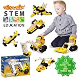 Click-A-Brick Mighty Machines 100pc Building Blocks Set | Best STEM Toys for Boys & Girls Age 5 6 7 Year Old | Fun Kids 3D Construction Puzzle | Top Educational Learning Gift For Children Ages 5-10