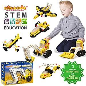 Click-A-Brick Mighty Machines 100pc Building Blocks Set | Best STEM Toys for Boys & Girls Age 4 5 6 Year Old | Kids 3D Creative Puzzle Fun | Top Educational Learning Gift For Children Ages 4 - 12