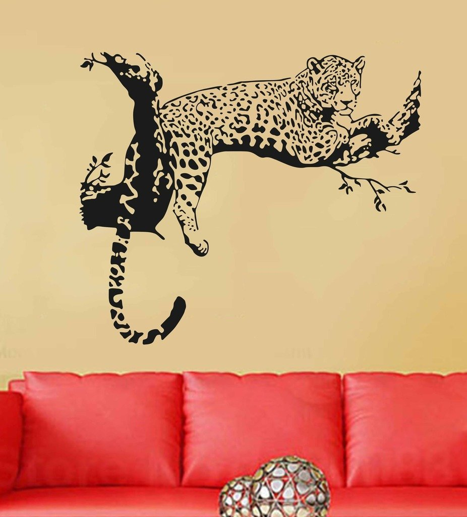 Maple Enterprise Animal Leopard on Branch large HD wall decoration vinyl sticker for livingroom, bedroom, kids room