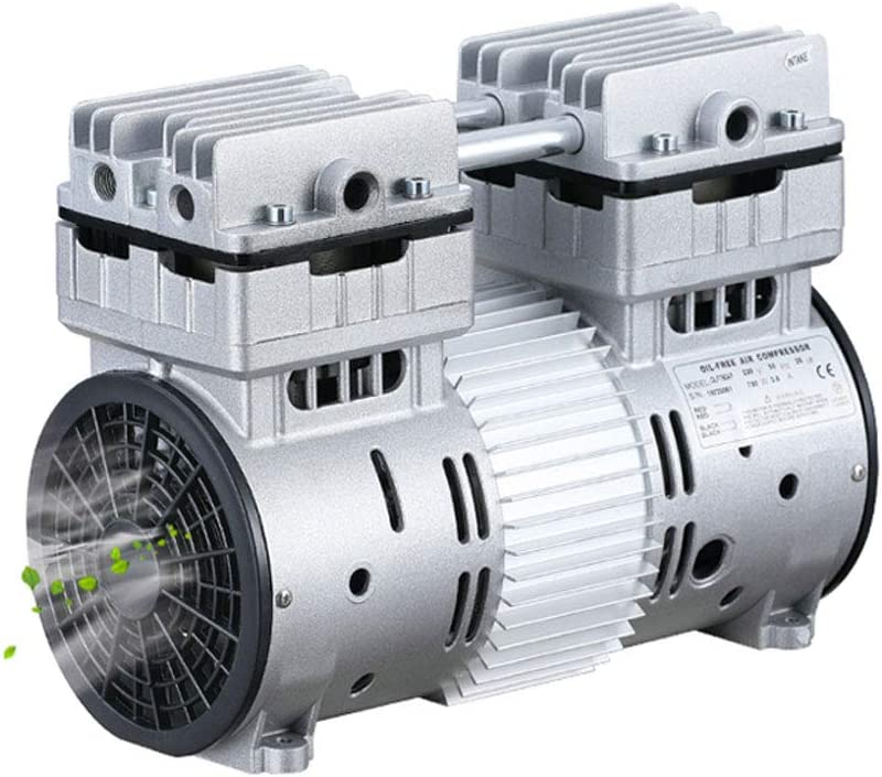 MXBAOHENG Oilless Diaphragm Vacuum Pump Industrial Oil Free Piston Vacuum Pump 580W 7.06CFM High Flow (110V, 200L/min)