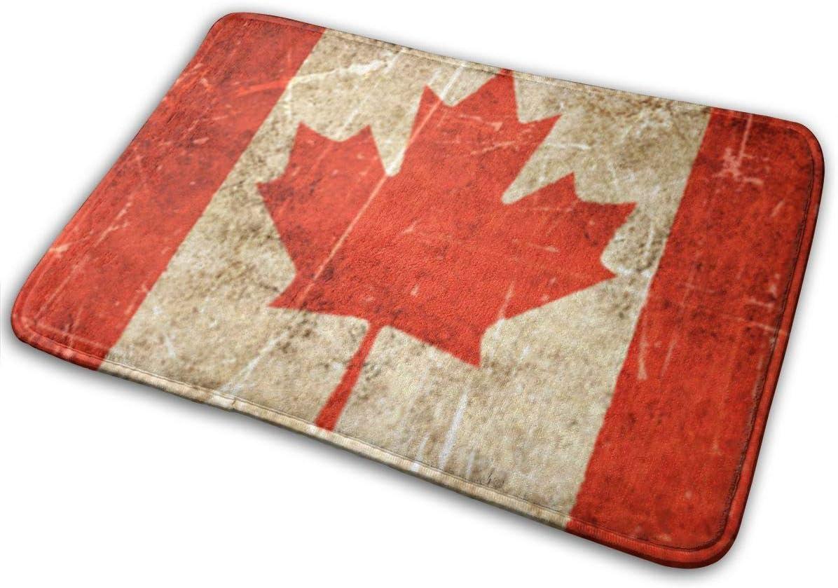 Garlincao - Felpudo con diseño de bandera canadiense envejecida y rayada: Amazon.es: Hogar
