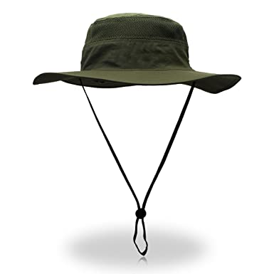 0e64d94ce4a Outfly Wide Brim Sun Hat Mesh Bucket Hat Lightweight Bonnie Hat Perfect For  Outdoor Activities