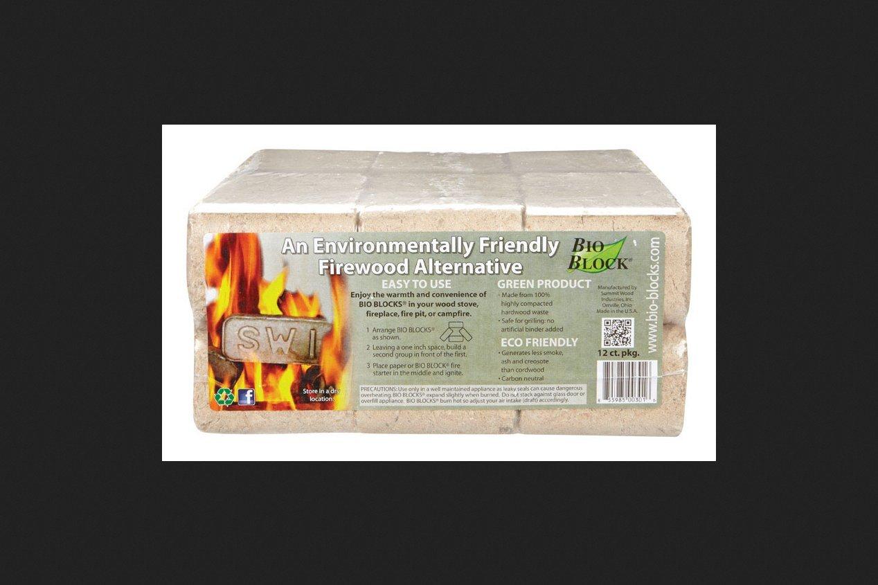 Bio Blocks Firelogs 12pk SUMMIT WOOD INDUSTRIES INC
