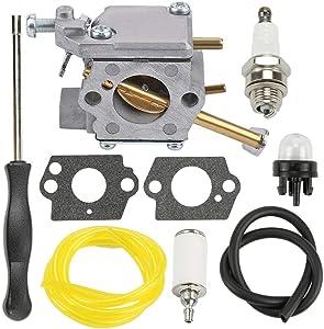 (New) Carburetor Kit Compatible with Homelite UT10514 UT10516 UT10947A UT10855 UT10847 Chainsaw + Free e-Book