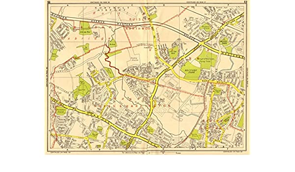 Sections Of London Map.Amazon Com Hayes Hillingdon Southall Greenford Northolt