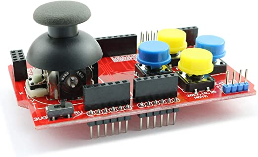 Magic/&shell 1PC Gamepad Joystick Shield Expansion Board Analog Keyboard for Arduino