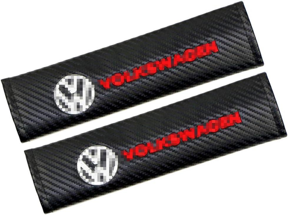 Coussin D/éPaule De Coussin De Couverture De Ceinture De S/éCurit/é De Voiture De Fibre De Carbone De 2pcs pour Volkswagen