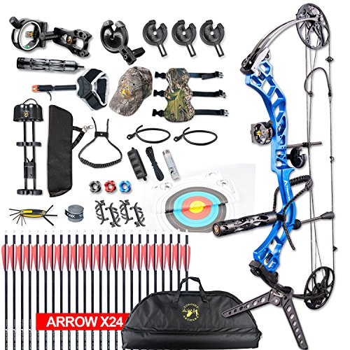 XGeek Compound Bow,Compound Hunting Bow Kit,CNC Milling Bow Riser,Limbs Made in USA,19'-30' Draw Length,19-70Lbs Draw Weight,Up to 320FPS, (2 Years Warranty)