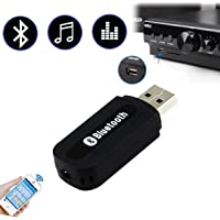 Car and Home Speaker Hands Free MP3 Player Bluetooth Wireless USB Dongle Adapter with AUX Receiver Handsfree Device for Cell Phone Speakerphone Kit