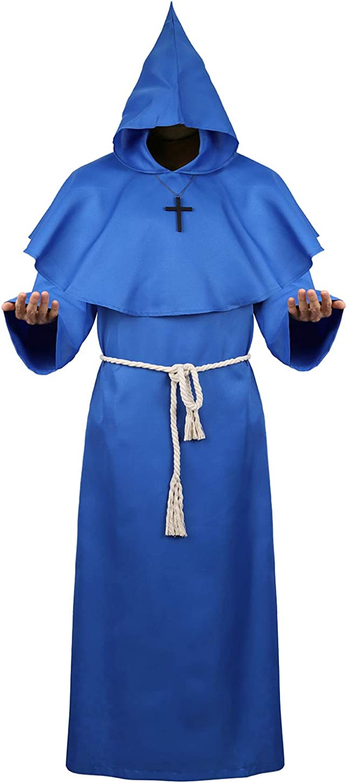 Amazon.com: Medieval Monk Robe Priest Robe - Capa con ...