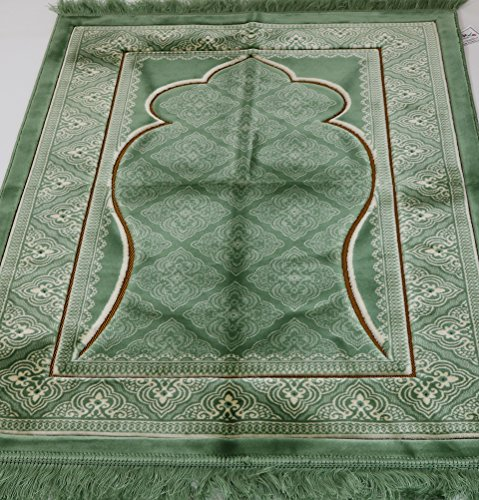 Wide Turkish Prayer Rug Plush Velvet Muslim Janamaz