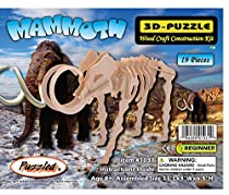 3-D Wooden Puzzle - Small Mammoth -Affordable Gift for your Little One! Item #DCHI-WPZ-J011