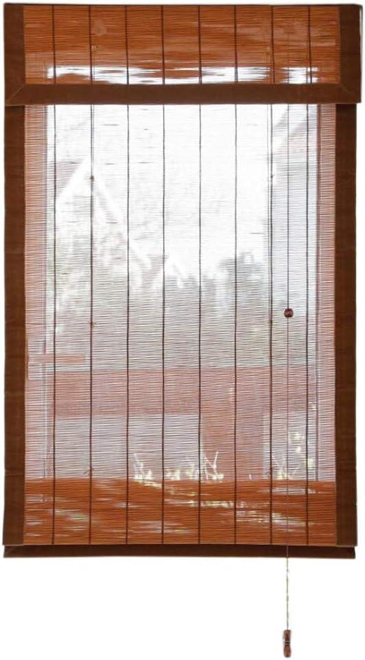 Jcnfa-Persianas Blackout Exterior De Persianas De Rodillo, De Enrollar Ciegos, Cortinas De Madera con Side Pull Y Accesorios, 85cm / 105cm / 115cm Ancho (Color : A, Size : W 105*H 220cm):