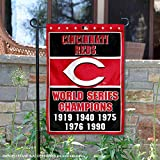 Cincinnati Reds 5-Time World Series Champions Double Sided Garden Flag