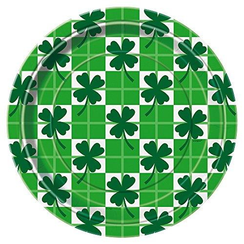 Checkered Clover Patricks Dinner Plates product image