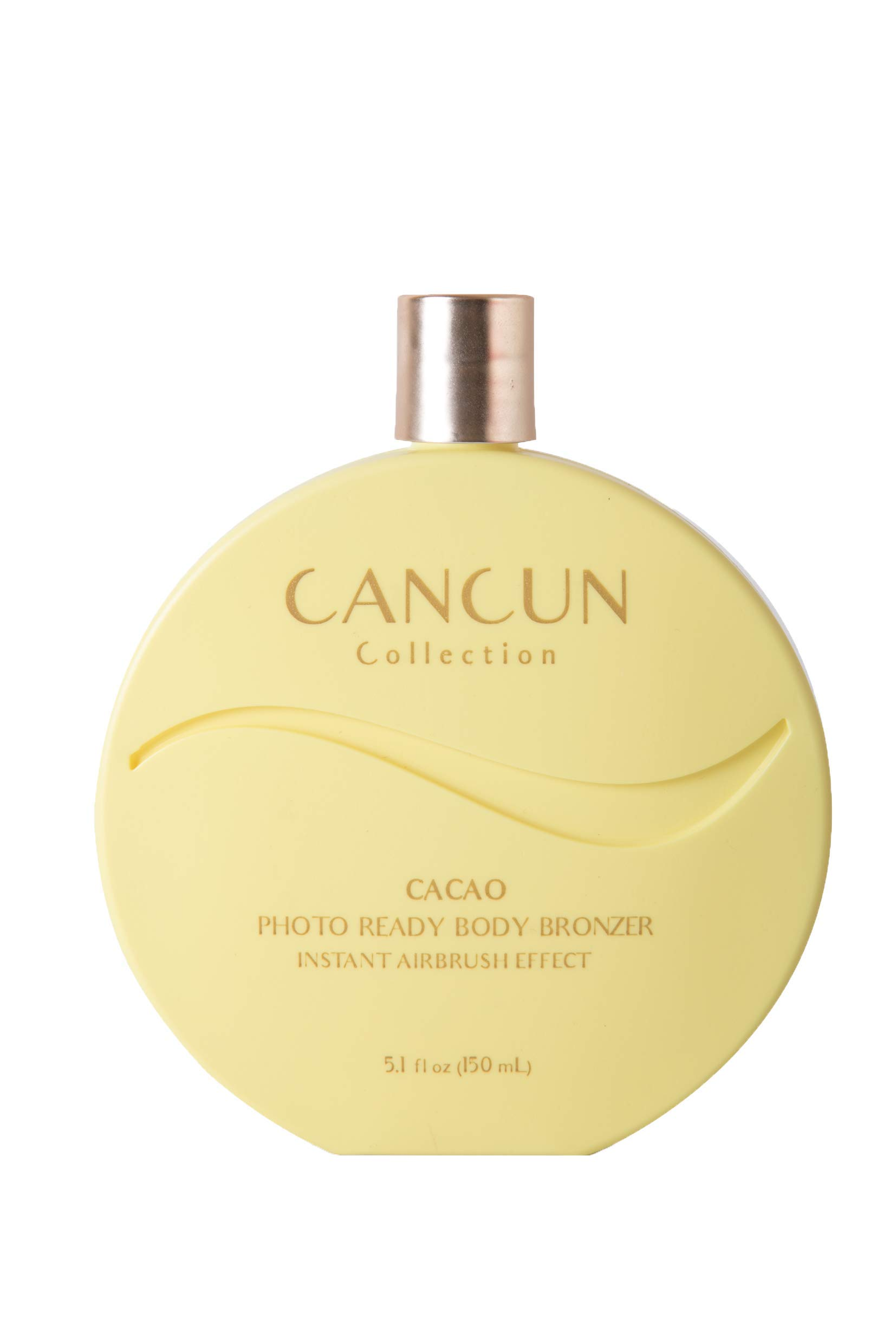 Cancun Collection Cacao Body Bronzer - Superfood Infused Sunless Tanning Lotion with Cacao 5.1 fl.oz, For Instant Tan in 1 minute.