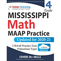 Mississippi Academic Assessment Program Test Prep: 4th Grade Math Practice Workbook and Full-length Online Assessments…