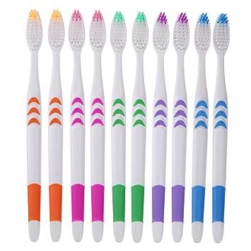 AFfeco 10pcs/pack profesional suave cepillos de dientes boca limpia Nano Oral Care Brush: Amazon.es: Belleza