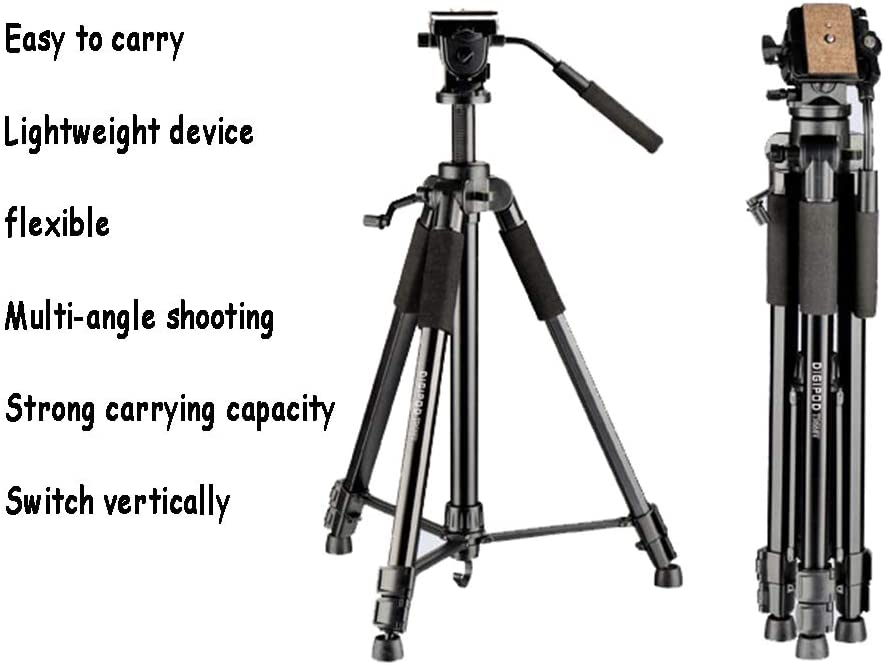 Lightweight Travel Aluminum Professional Tripod Stand for DSLR SLR Cameras Compatible with iOS /& Android Funiee 67 Camera Tripod