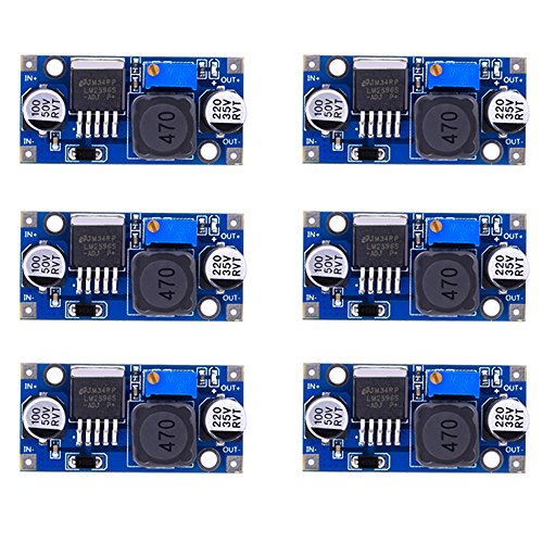eBoot 6 Pack LM2596 DC to DC Buck Converter 3.0-40V to 1.5-35V Power Supply Step Down Module (1.5a Power Supply)