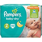 Pampers Baby-Dry Size 3 to 6 kg Value pack, 4 pack (4 x 42)
