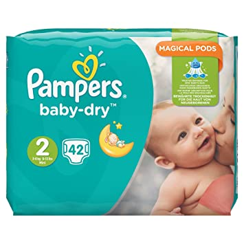 Pampers Baby Dry Taille 2 3 6 Kg 42 Couches Lot De 4 Paquets 4 X