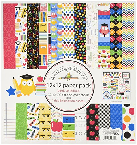 - DOODLEBUG School Paper Pack, 12 by 12