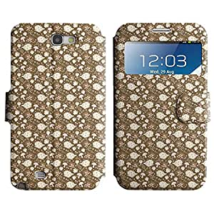Be-Star Diseño Impreso Colorido Slim Casa Carcasa Funda Case PU Cuero - Stand Function para Samsung Galaxy Note 2 II / N7100 ( Teas And Kettles )