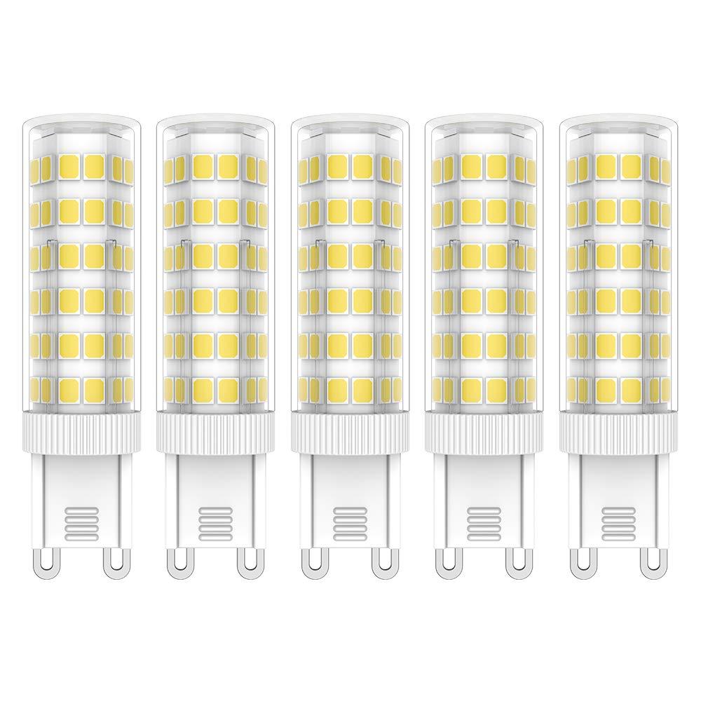 AC100-265V 6 Pack Blanco c/álido 3000k Bombillas LED G9 3W equivalentes a L/ámparas hal/ógenas de 35W 400LM