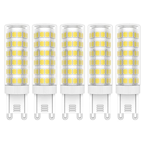 5X G9 LED Bombillas 7W LED Lámpara 76 SMD 2835LEDs Bombilla Lámpara Blanco Frío 6000K Super