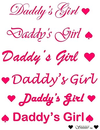 59e7d6038 Amazon.com: 6 x Daddy's Girl Temporary Tattoos in Various Sizes ...